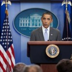 Video shows split-screen between Obama speech, Ferguson riots